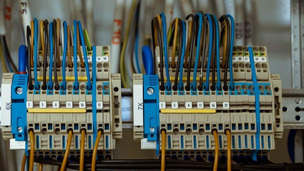 Foto de instalação elétrica