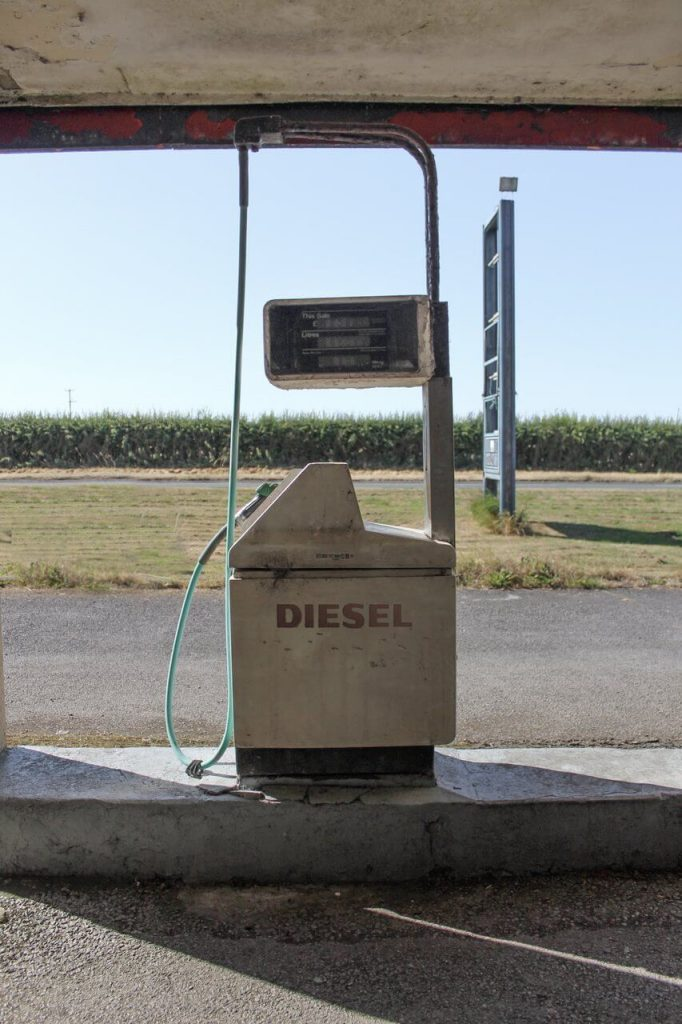 Foto de bomba de abastecimento de diesel