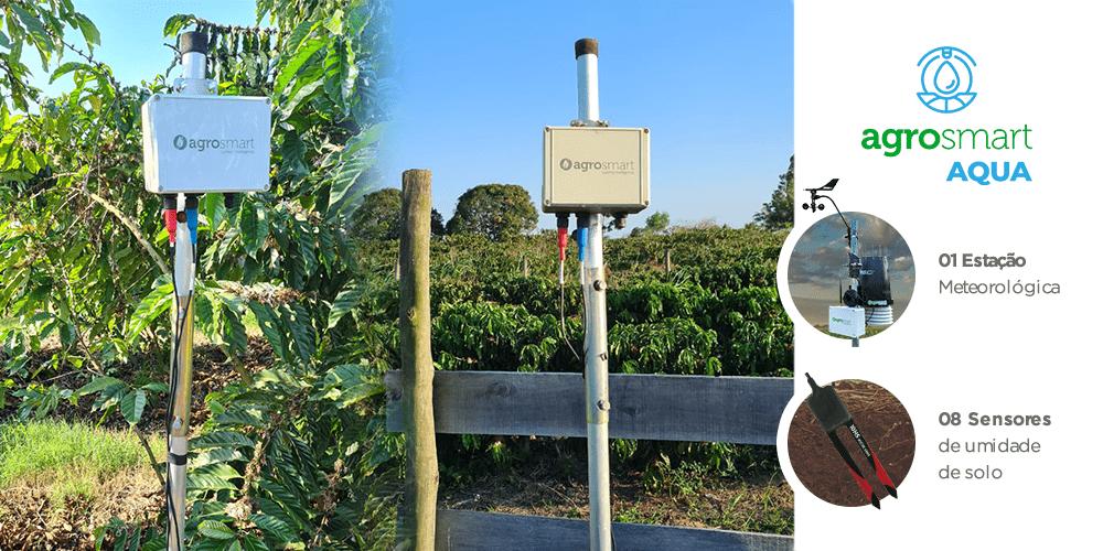 Foto de Sensores de umidade de solo na Fazenda Chapadão