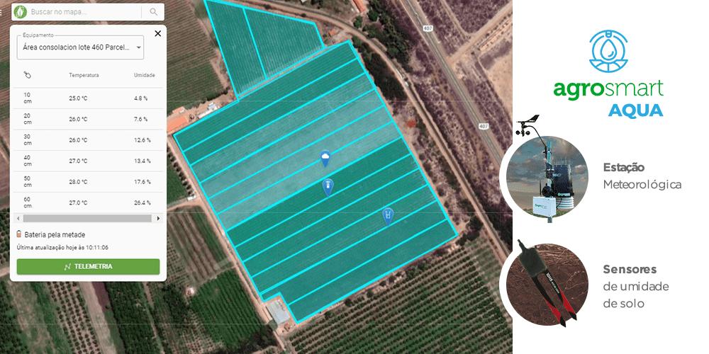 Soluções Agrosmart que a Nutritechy utiliza para o manejo de irrigação da uva